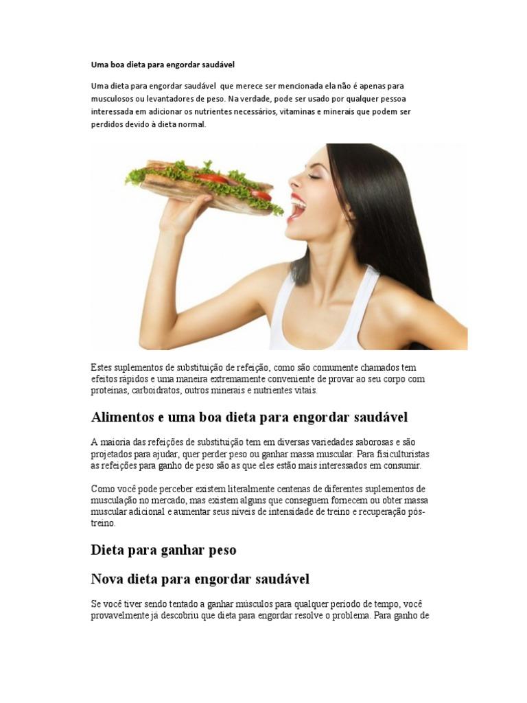 Dieta saudavel para perder peso e ganhar massa muscular