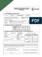 Formulario Convenio Salarial 2014 PROTECTOR