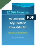 Acid Gas Dehydration