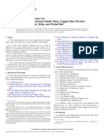 Standard Specification for Copper-Zinc-Aluminum-Cobalt Alloy, Copper-Zinc-Tin-Iron Alloy Plate, Sheet, Strip, And Rolled Bar