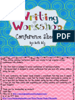 writingworkshopconferencesheets