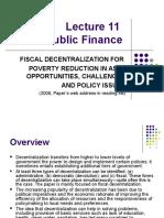 Lecture - Fiscal Decentralization