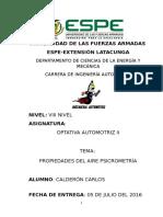 Calderon Sánchez Carlos Fernando, Propiedades Del Aire Psicrometría