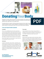 Donating Your Body | help sheet by DHT