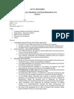 Acta-Resumen Asamblea General Extraordinaria Nº6