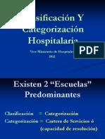 Clasificación y Categorización de Hospitales