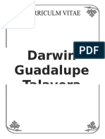 CURRICULUM Darwin Guadalupe Talavera Pérez