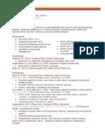 callista verver resume 2016
