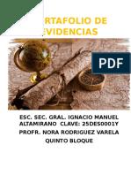 Portafolio de Evidencias de Geografia de Mexico y el mundo 5 bloque