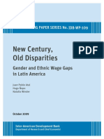 Hugo Ñopo 2009 BID New Century, Old Disparities- Gender and Ethnic Wage Gaps in Latin America