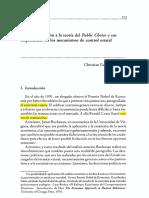 Teoria Public Choice y Control Social