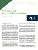 Evaluación Del Cooperativismo en México