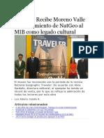 26.05.16 Recibe Moreno Valle Reconocimiento de NatGeo Al MIB Como Legado Cultural