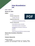 Manuscritos Econômico- Filosoficos - Karl Marx
