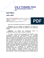 Maquinaria e Trabalho Vivo - Karl Marx
