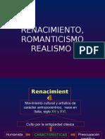 Renacimiento, Romanticismo, Lit. Moderna