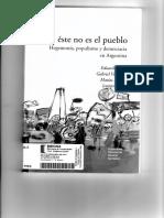 """Rinesi """"Populismo y República"""""""
