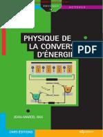 Physique de La Conversion d'Énergie - Jean-Marcel Rax