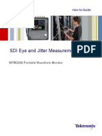 SDI Eye and Jitter Measurements