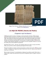 El Hecho de Pedro (La Hija de Pedro) w