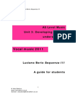 Berio Sequenza III Study Guide