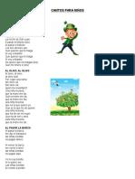 10 Cantos, Juegos, Poemas, Dichos, Adivinanzas y Trabalenguas Para Niños