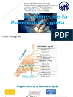 Compliaciones de Pancreatitis y CA Gastrico