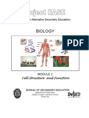 Module 2 - Cell Structure & Function (Student Guide