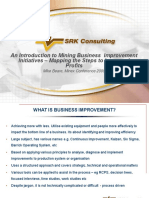 An Introduction to Mining Business Improvement Initiatives – Mapping the Steps to Increased Profits