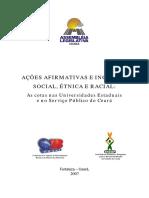 As Cotas Nas Universidades Estaduais e No Serviço Público Do Ceará