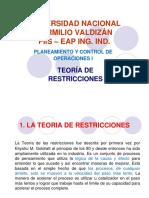 Teoría de Restricciones en las operaciones de produccion