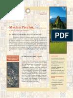 Boletin Informativo - Machu Picchu