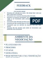 FEEDBACK e Ambiente da Negociação