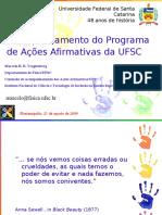 Acompanhamento Do Programa de Ações Afirmativas Da UFSC
