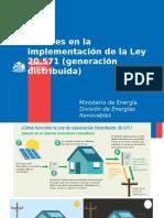 Avances en La Implementación de La Ley 20.571 Generación Distribuida