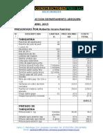 Cotizacion Arequipa Departamento