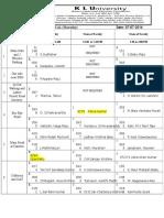 Discipline Monitoring List