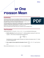 Tests for One Poisson Mean