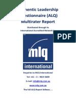 Authentic Leadership Quetionnaire