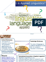 What is Applied Linguistics?