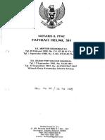 Akta Pernyataan Keputusan RUPSLB TRIO 26 Feb 2009 No. 20
