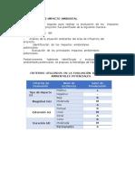 Evaluacion de Impacto Ambiental y Matriz Logica