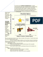 The BCG Matrix Method is the Most Well