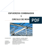 Informede Resistencia Esfuerzos Combinados y Circulo de Mohr