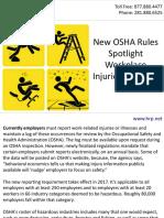 New OSHA Rules Spotlight Workplace Injuries, Illnesses