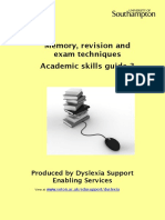 Memory Revision and Exam Techniques 2014