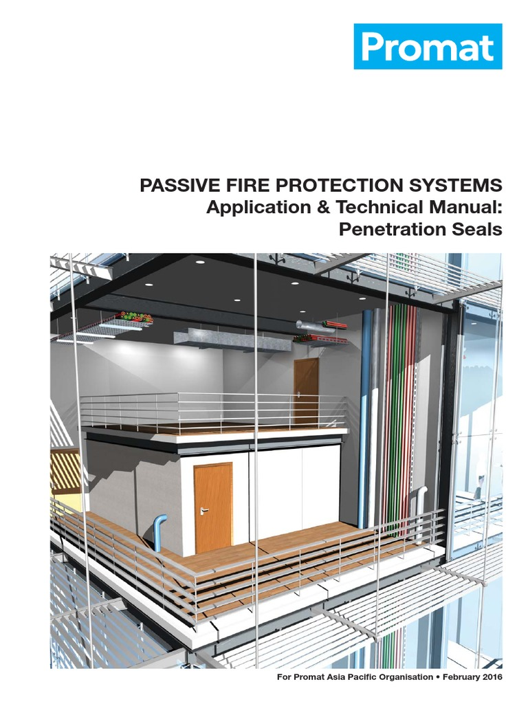 Rise bulkhead penetration fire protection