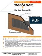 Fire Door Damper Kits Installation Instructions