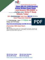 [2016 Jul. NEW]Braindump2go 400-101 Dumps VCE 1119Q&as 41-50