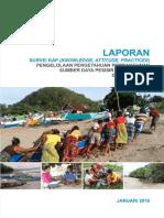 Laporan Survei KAP (Knowledge, Attitude, Practices) Pengelolaan Pengetahuan Pembangunan Sumber Daya Pesisir Rendah Emisi di NTB dan NTT